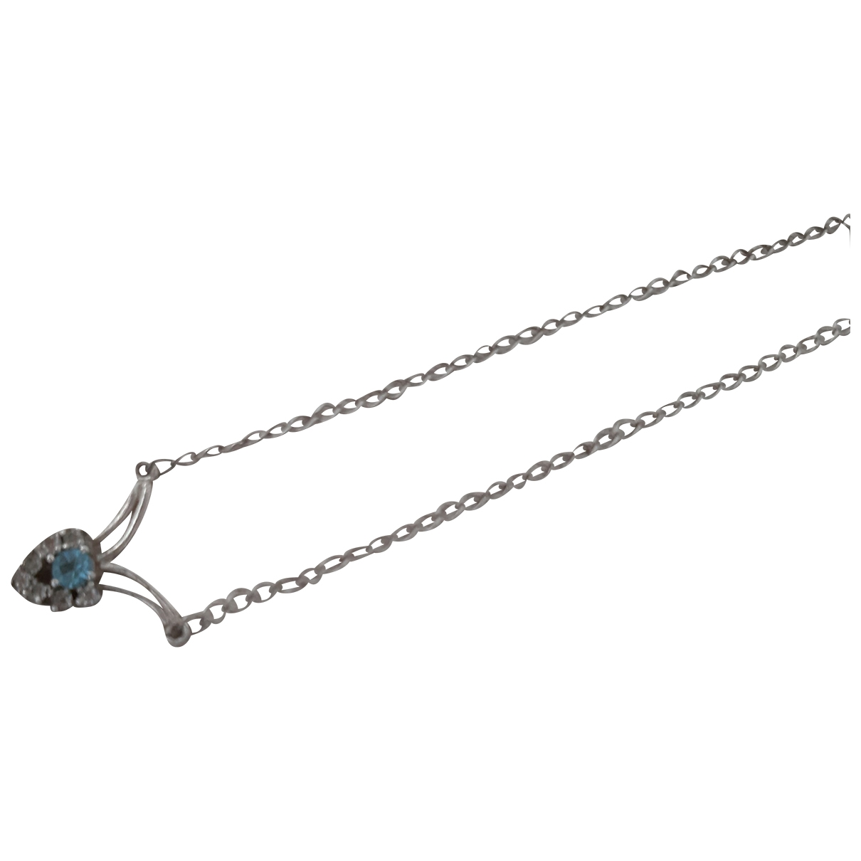 Non Signé / Unsigned Aigues-Marines Blue Silver necklace for Women \N