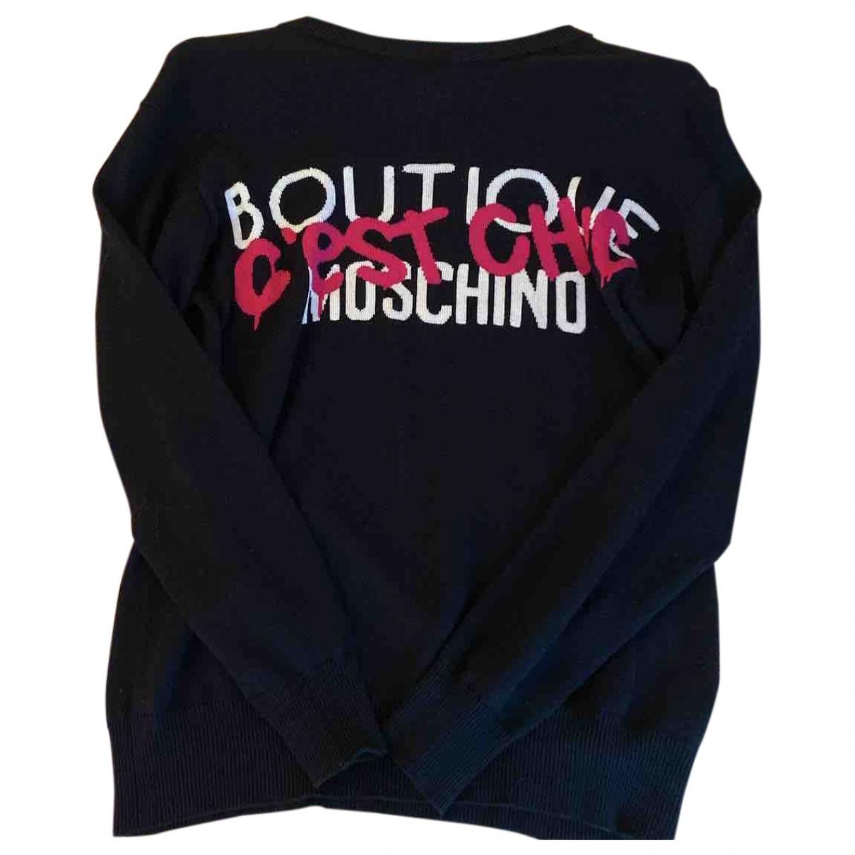 Moschino - Pull   pour femme en coton - noir