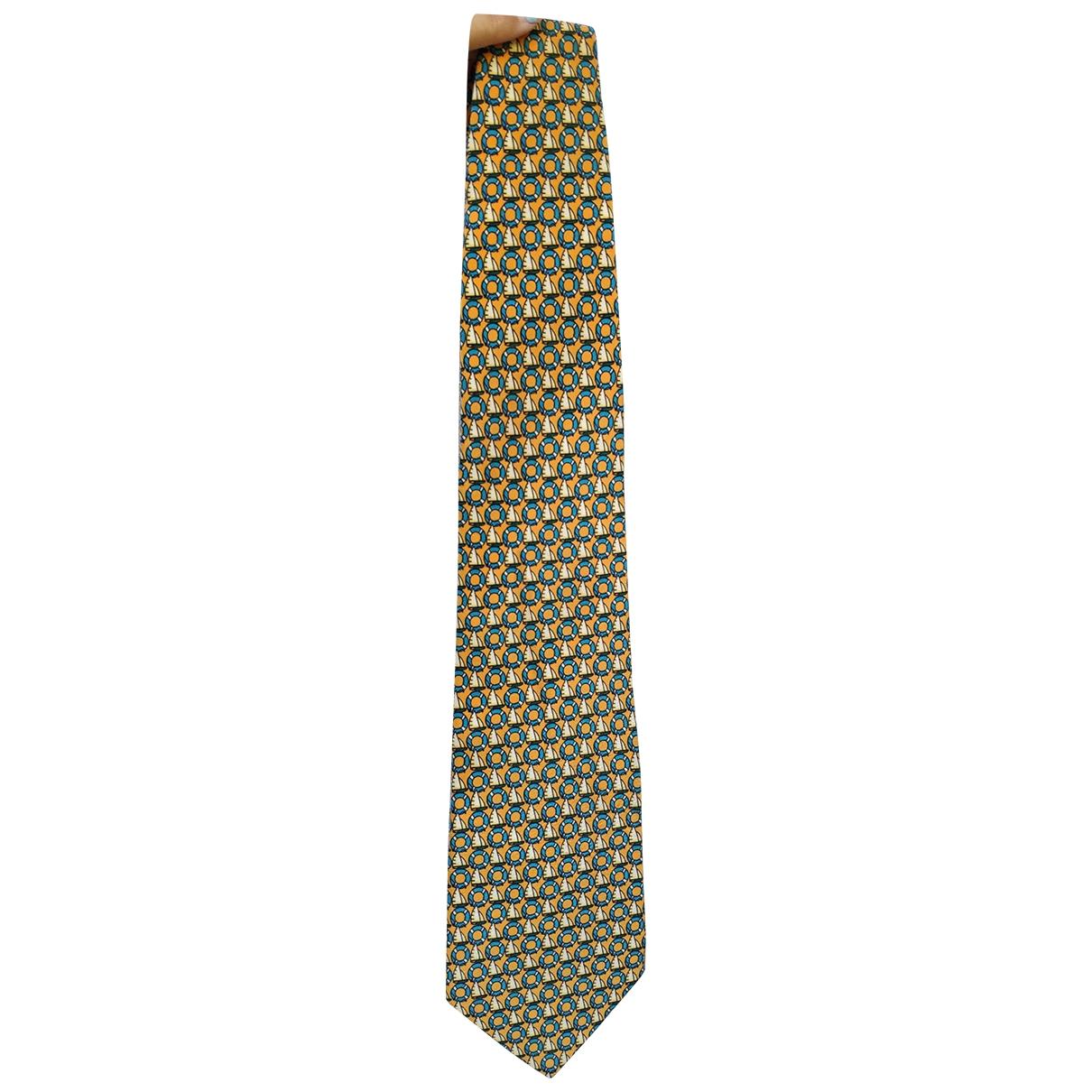 Trussardi \N Krawatten in  Gelb Seide