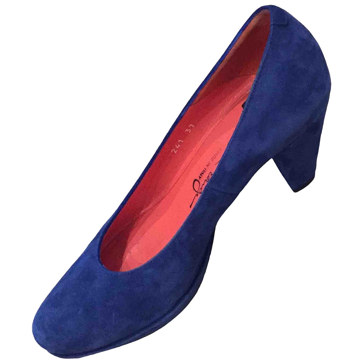 Non Signé / Unsigned \N Blue Suede Heels for Women 37 EU