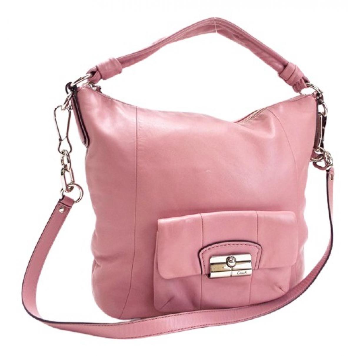 Coach N Pink Leather handbag for Women N