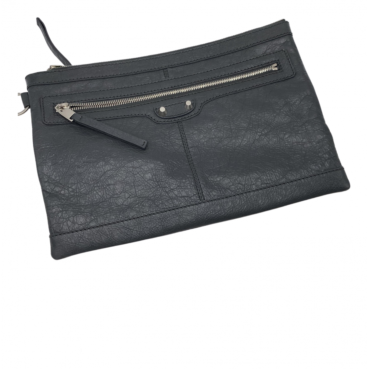Balenciaga \N Clutch in  Grau Fell