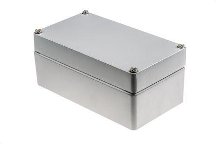 RS PRO Grey Die Cast Aluminium Enclosure, IP66, 220 x 120 x 90mm