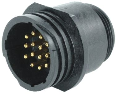 Toughcon Connector, 14 contacts Cable Mount Socket, Crimp IP44, IP65