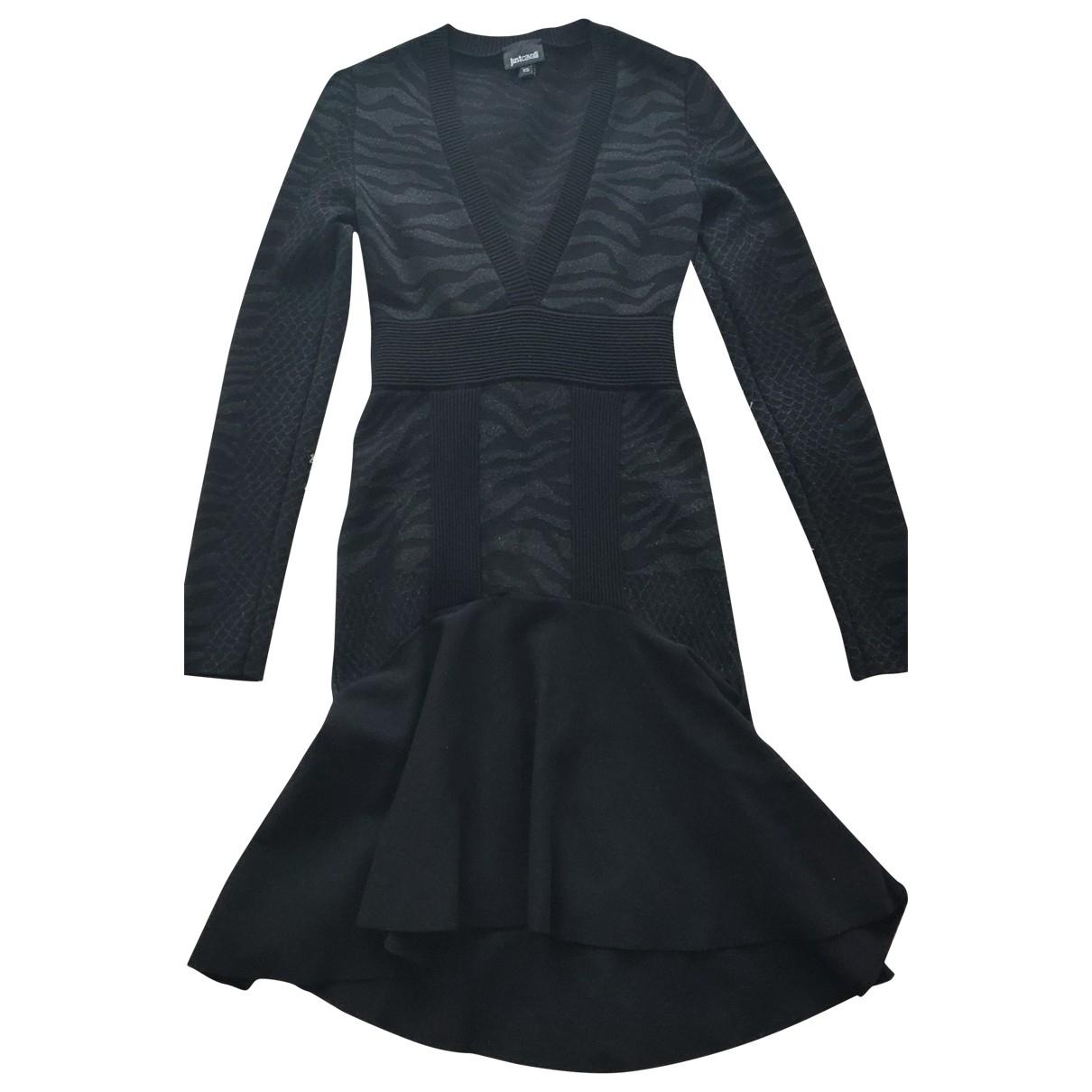 Just Cavalli \N Black Cotton - elasthane dress for Women 34 FR
