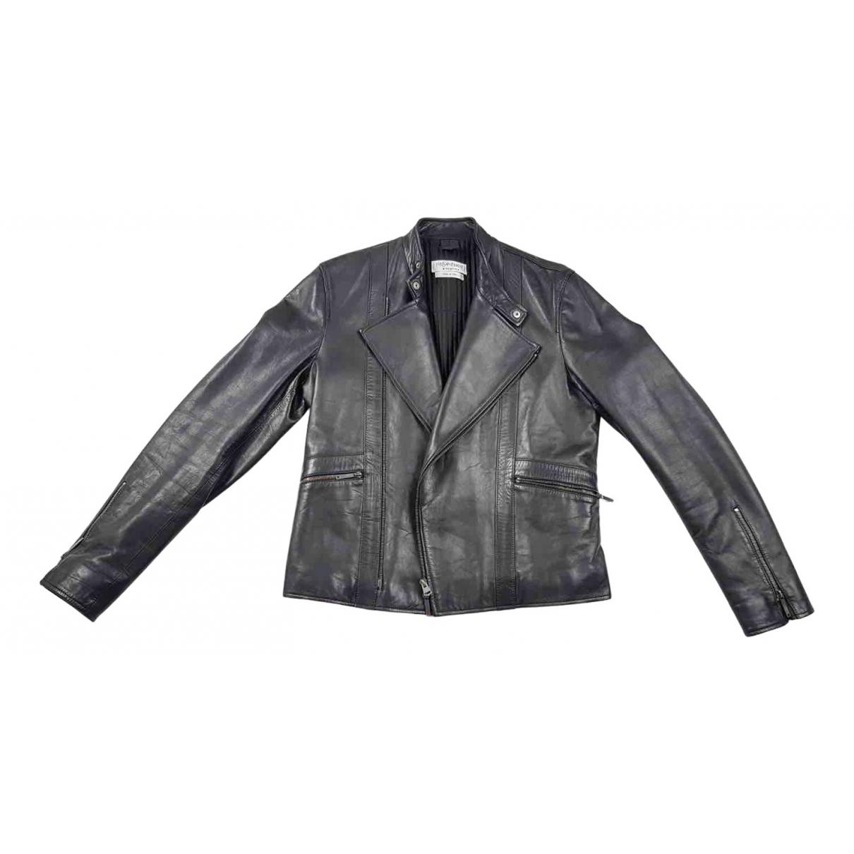 Yves Saint Laurent N Black Leather jacket  for Men 48 IT