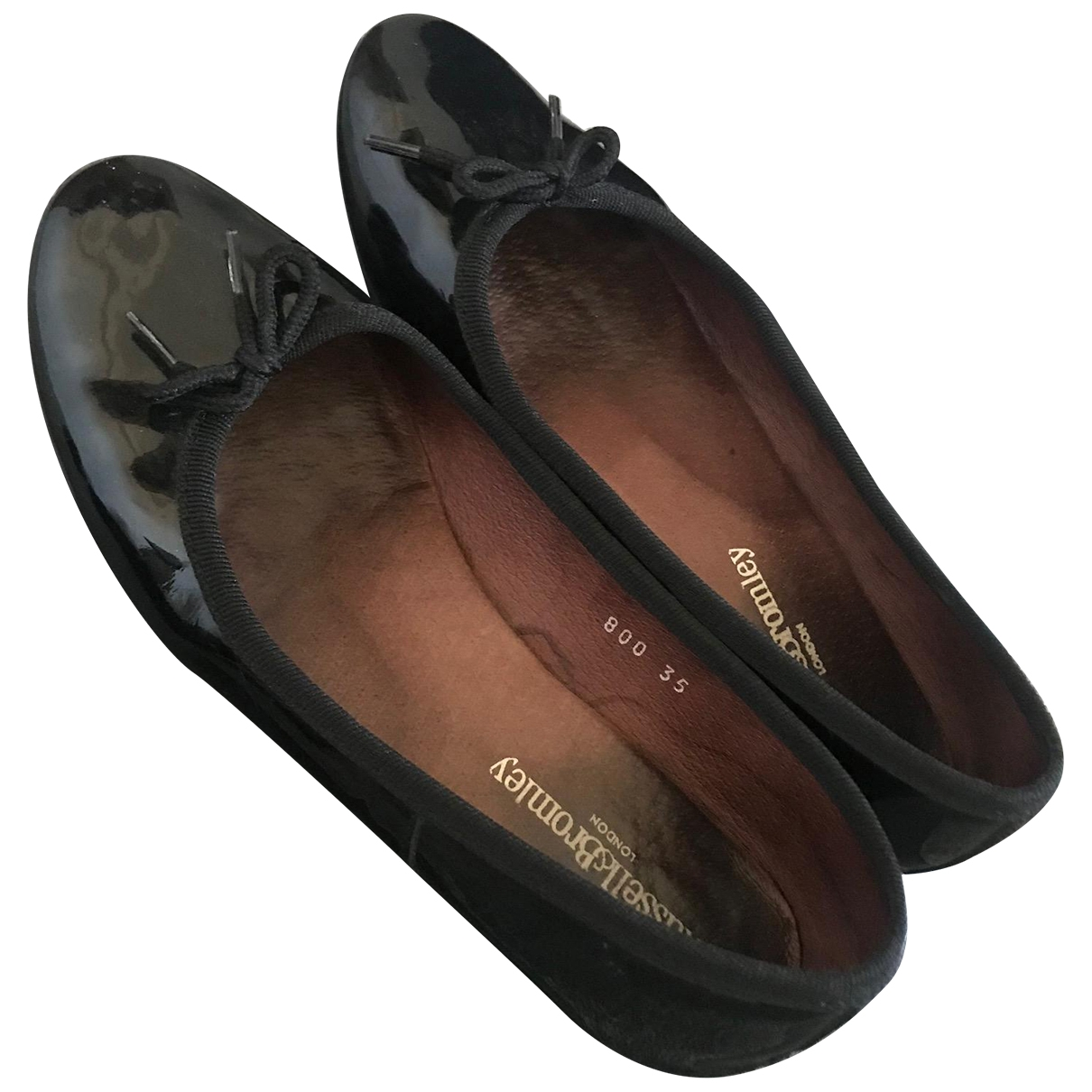 Russell & Bromley \N Black Patent leather Ballet flats for Women 35 EU