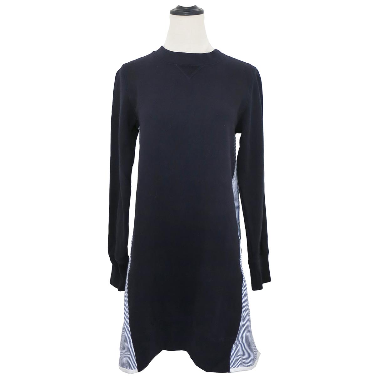 Sacai \N Kleid in  Marine Baumwolle