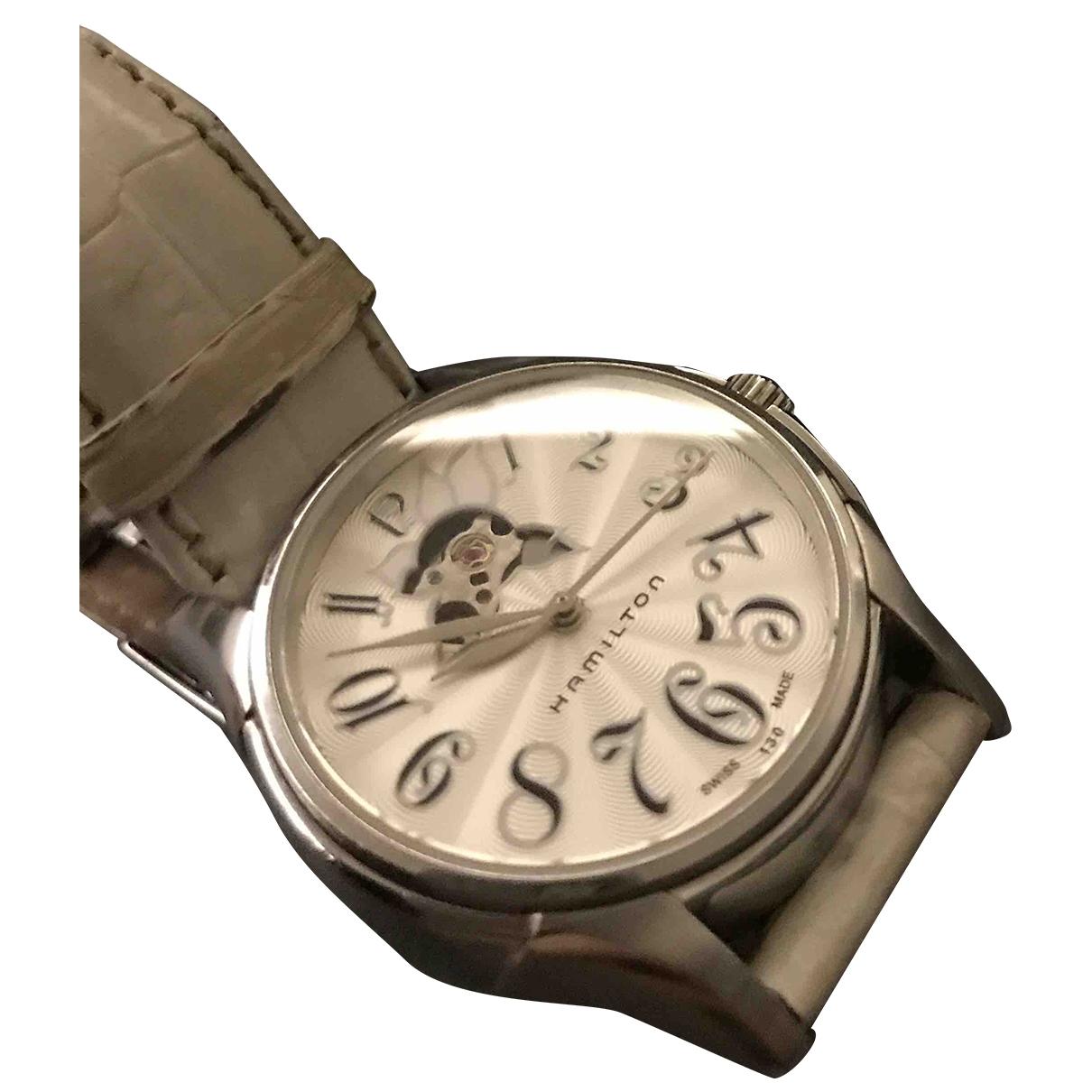 Hamilton \N Uhr in  Weiss Stahl