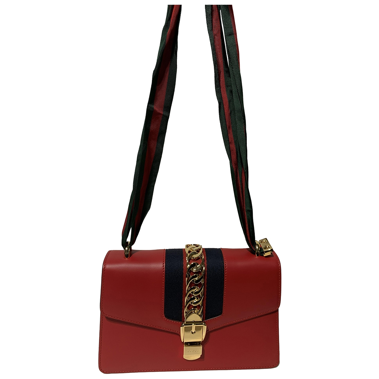 Gucci Sylvie Red Leather handbag for Women \N