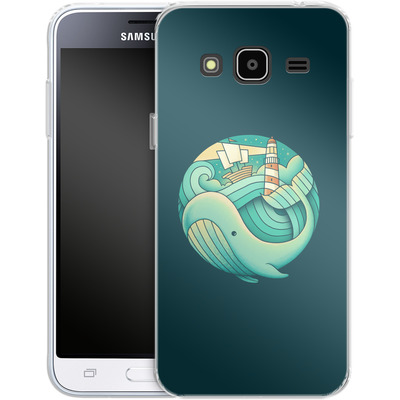 Samsung Galaxy J3 (2016) Silikon Handyhuelle - Into The Ocean von Enkel Dika