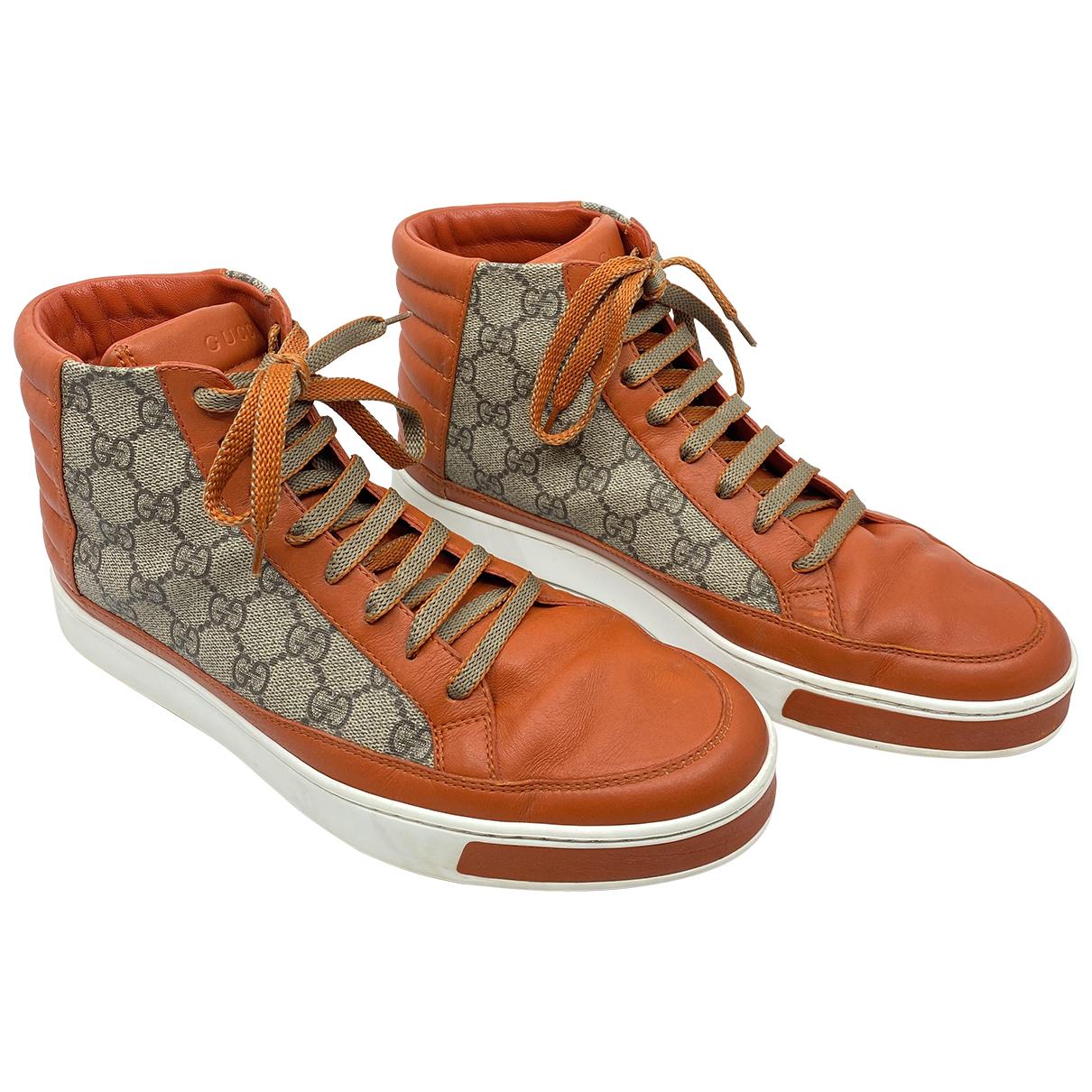 Gucci - Baskets Ace pour femme en cuir - orange