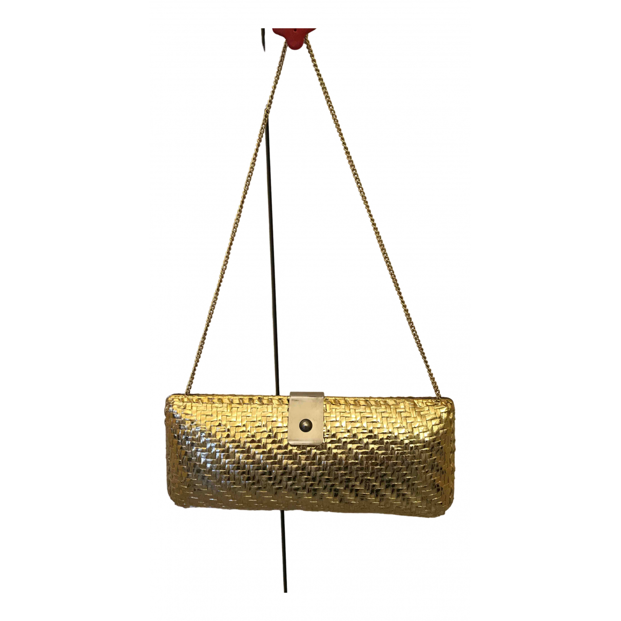 Non Signe / Unsigned \N Clutch in  Gold Kunststoff