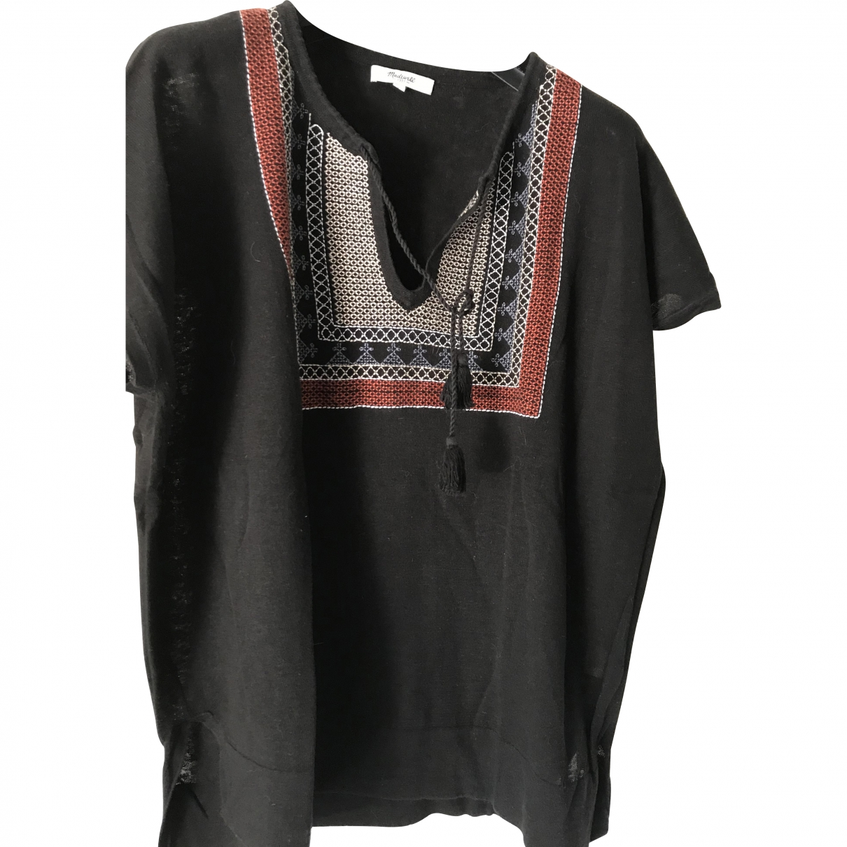 Madewell \N Black Linen  top for Women L International