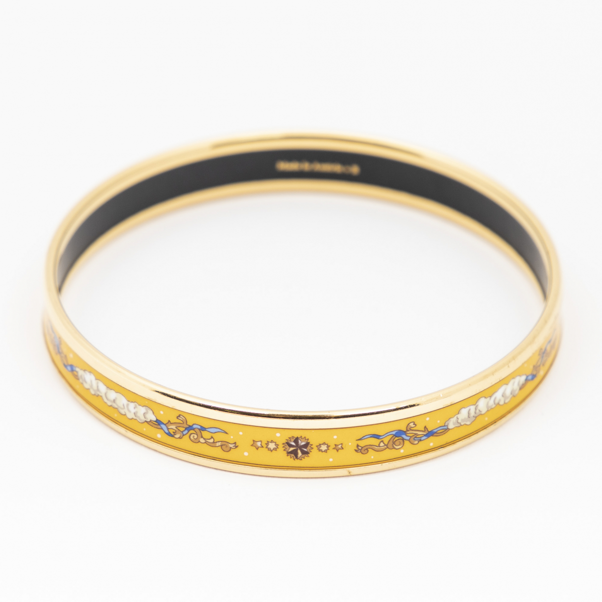 Hermes \N Armband in  Gelb Weissgold