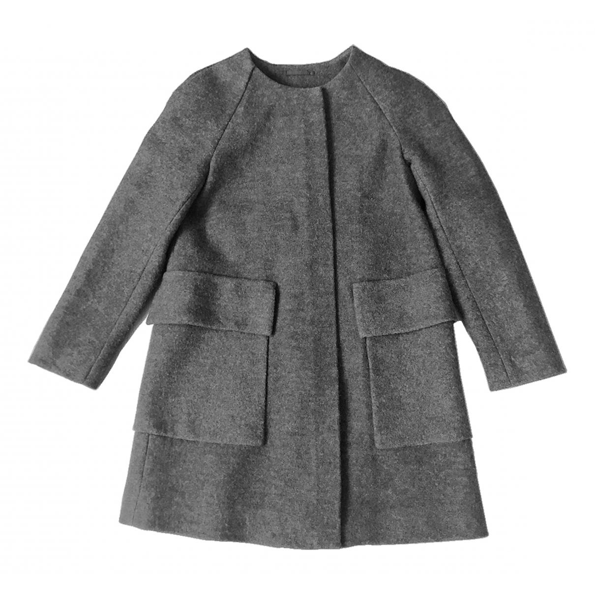 Cos \N Maentel in  Grau Wolle