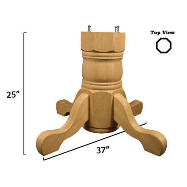 Cherry Traditional Table Pedestal Base Kit, Model 1178C