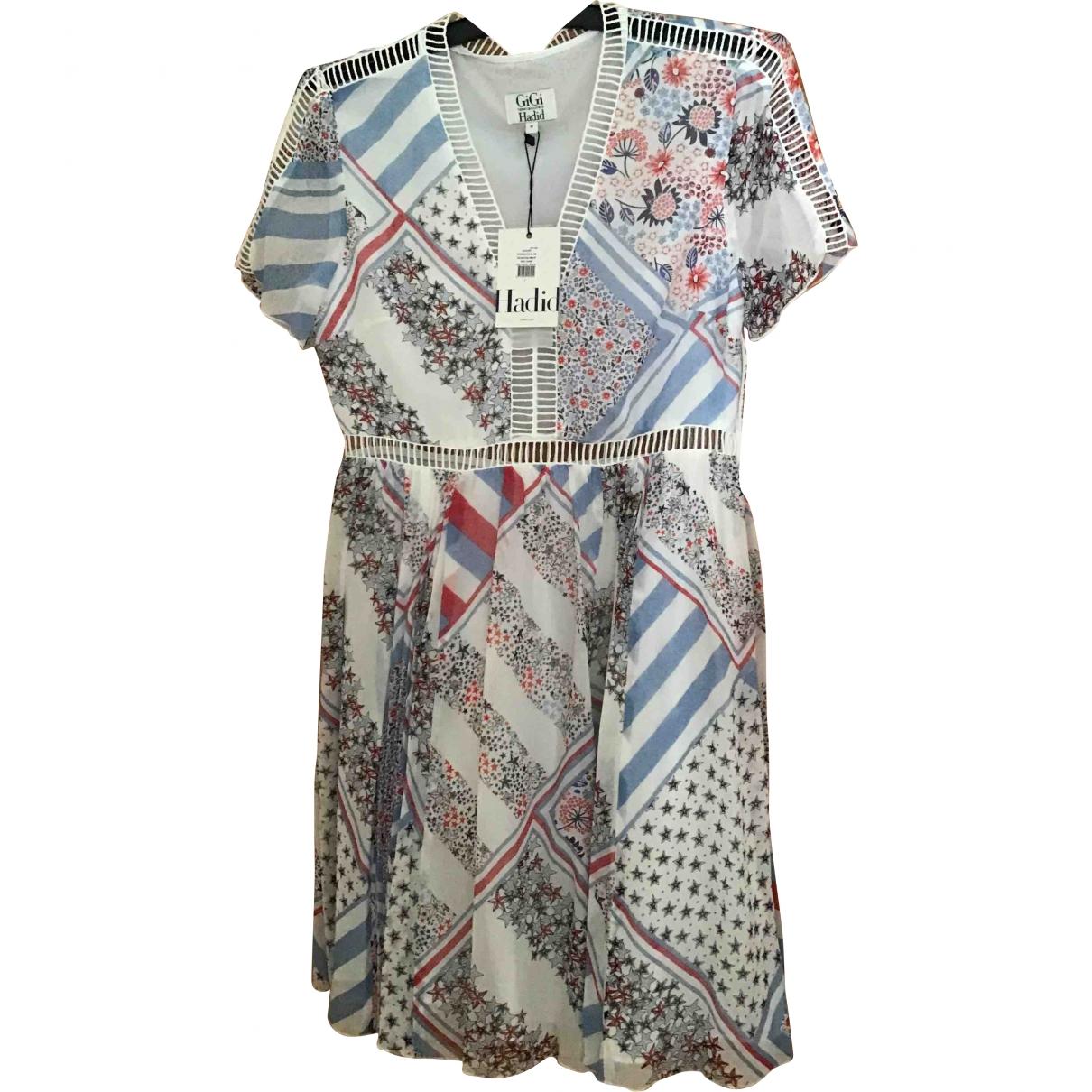 Gigi Hadid X Tommy Hilfiger \N White Silk dress for Women 40 FR