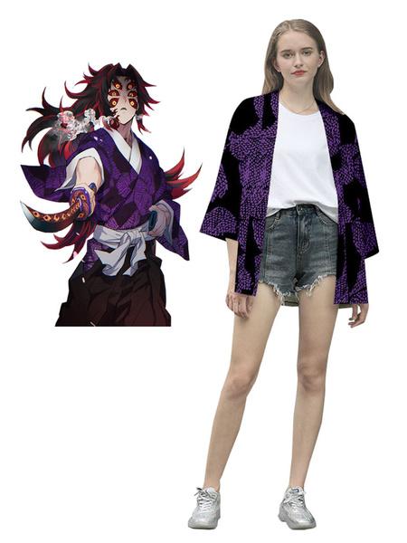 Milanoo Demon Slayer: Kimetsu No Yaiba Kokushibou Tsugikuni Michikatsu Kimono Only Anime Cosplay Costume