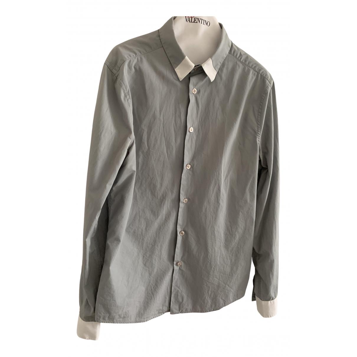 Versus - Chemises   pour homme en coton - gris