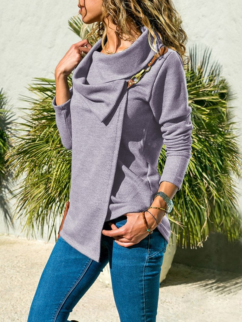 Ericdress Loose Layered Mid-Length Long Sleeves Cool Hoodie
