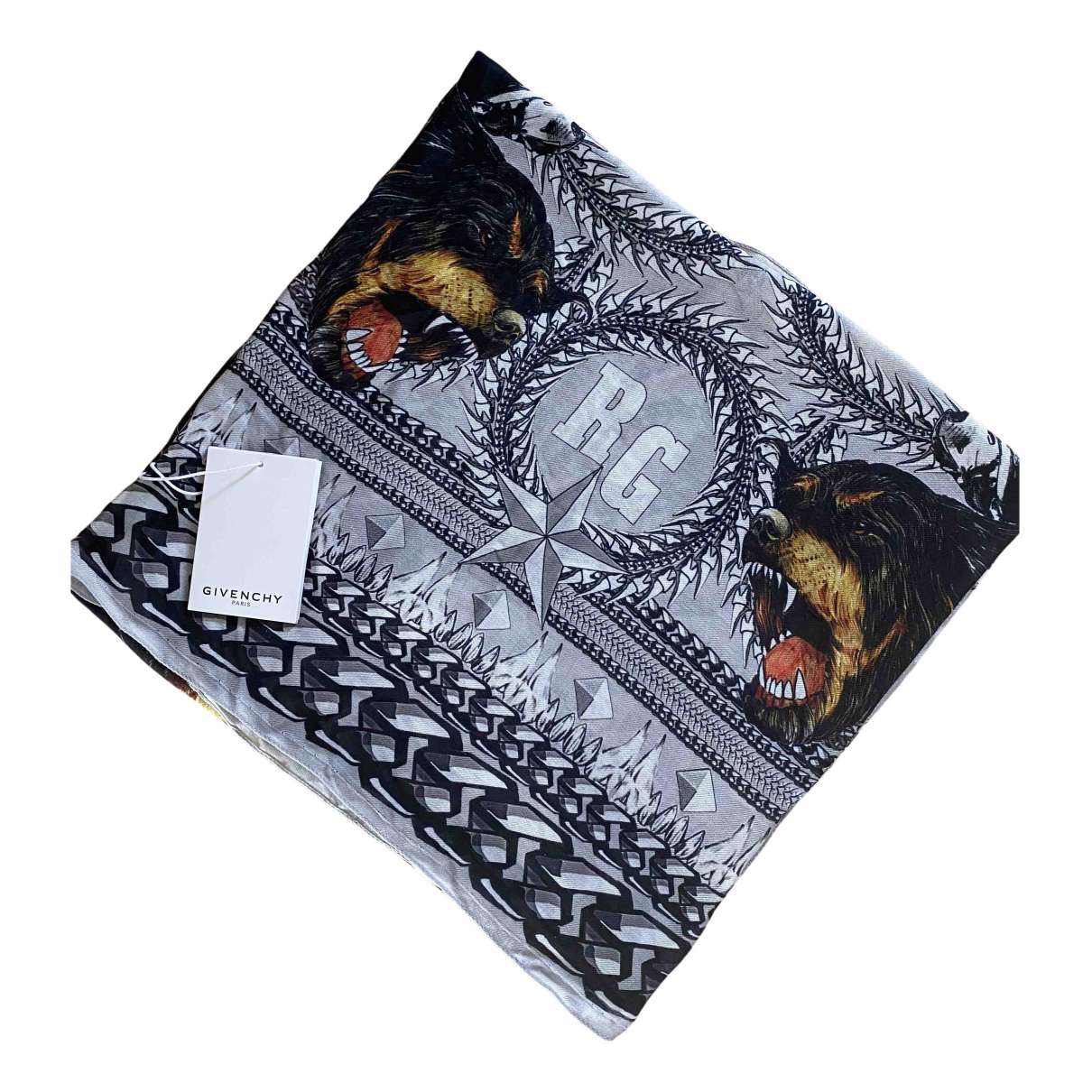 Givenchy N Grey Cashmere scarf for Women N