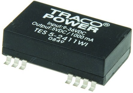 TRACOPOWER TES 5WI 5W Isolated DC-DC Converter Surface Mount, Voltage in 9 → 36 V dc, Voltage out 12V dc