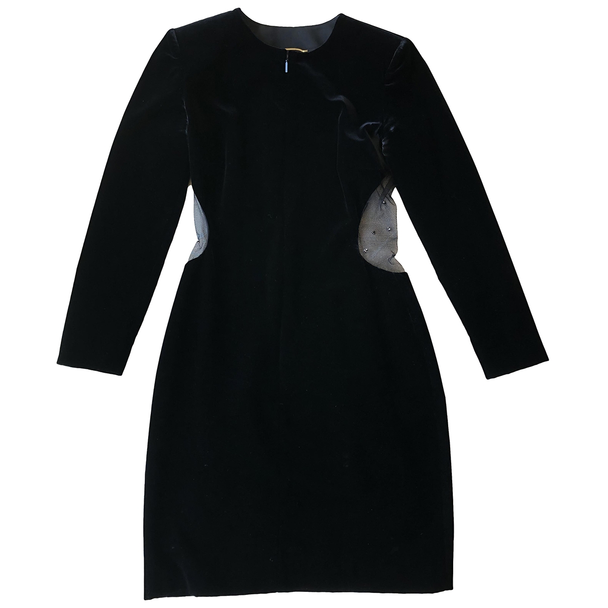 Saint Laurent \N Black Velvet dress for Women 36 FR