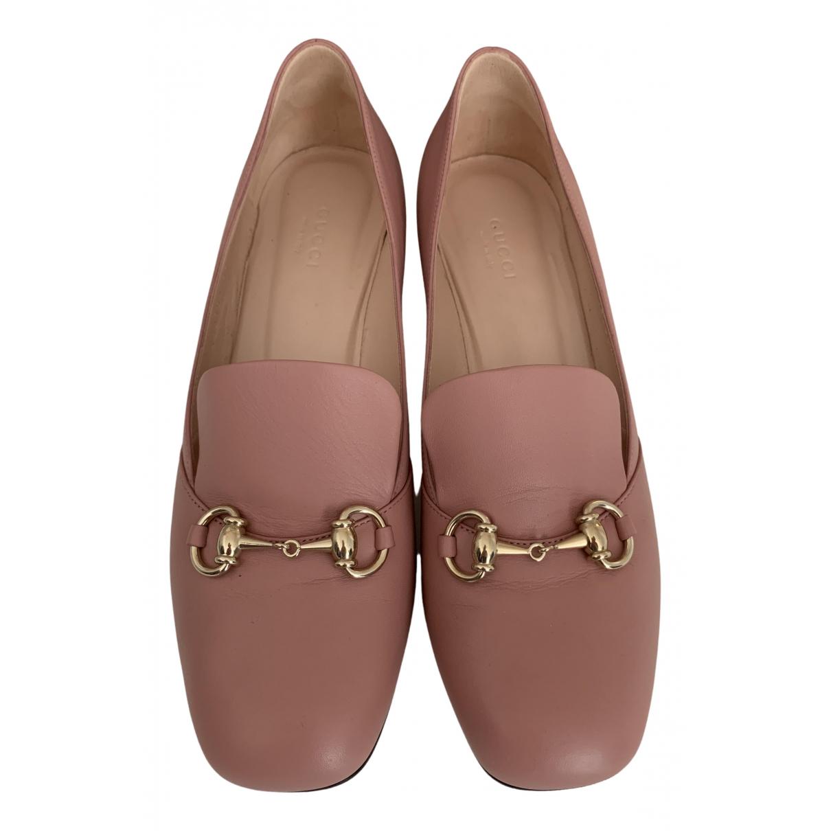 Gucci - Escarpins   pour femme en cuir - rose