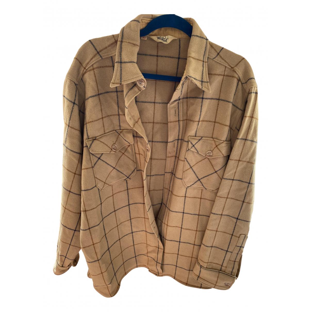 Woolrich - Veste   pour femme en laine - beige
