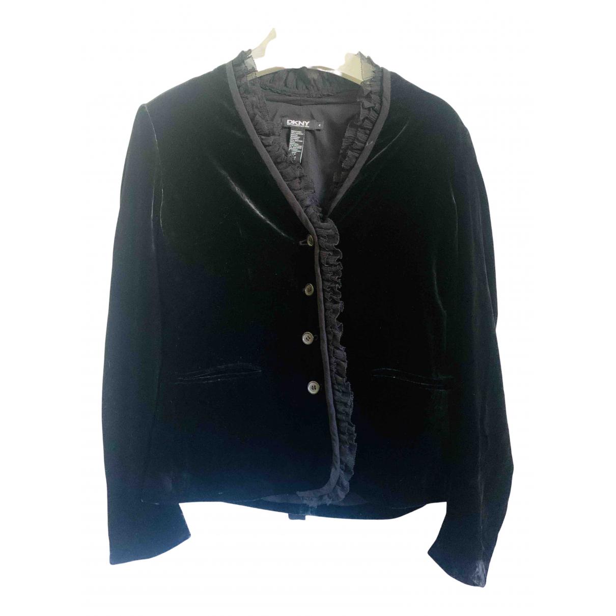 Dkny - Veste   pour femme en velours - noir