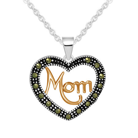 Sparkle Allure Crystal Pure Silver Over Brass 18 Inch Cable Heart Pendant, One Size , No Color Family
