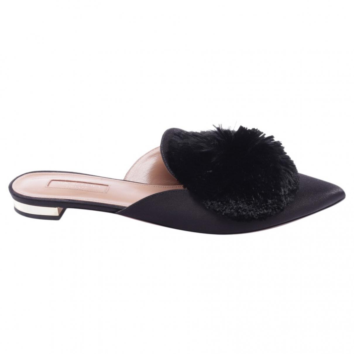 Aquazzura \N Black Leather Sandals for Women 38 EU