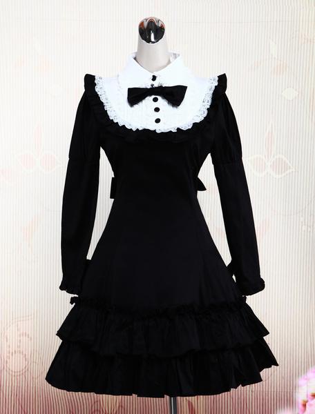 Milanoo Vestido de Lolita con volante fruncido