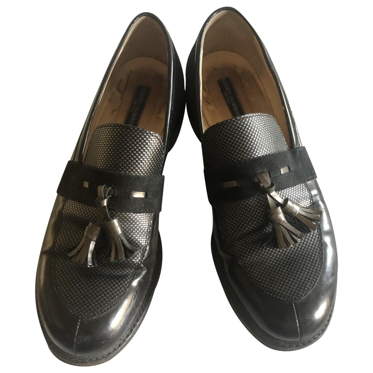 Alberto Guardiani - Mocassins   pour femme en cuir - noir
