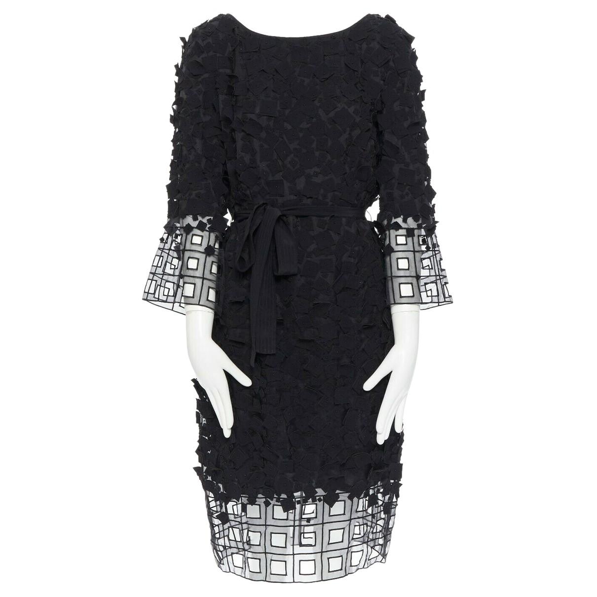 Escada - Robe   pour femme en coton - noir
