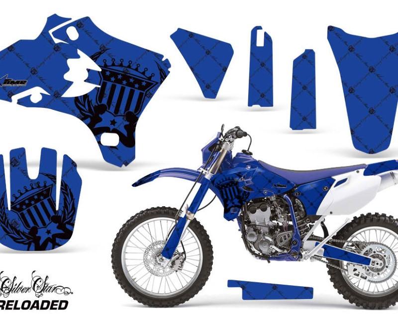 AMR Racing Dirt Bike Graphics Kit Decal Wrap For Yamaha WR250 WR450F 2005-2006áRELOADED BLACK BLUE