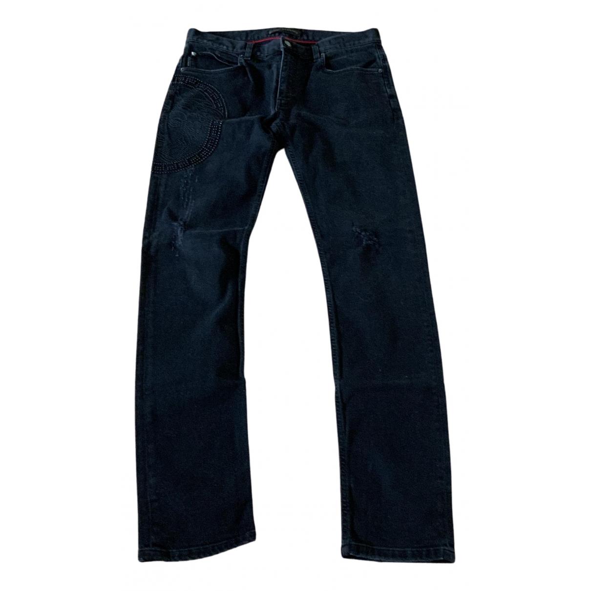 Versace - Jean   pour homme en coton - elasthane - noir