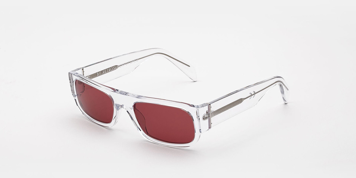 Retrosuperfuture Smile Melanzana I0CU HDR Men's Sunglasses Clear Size 54