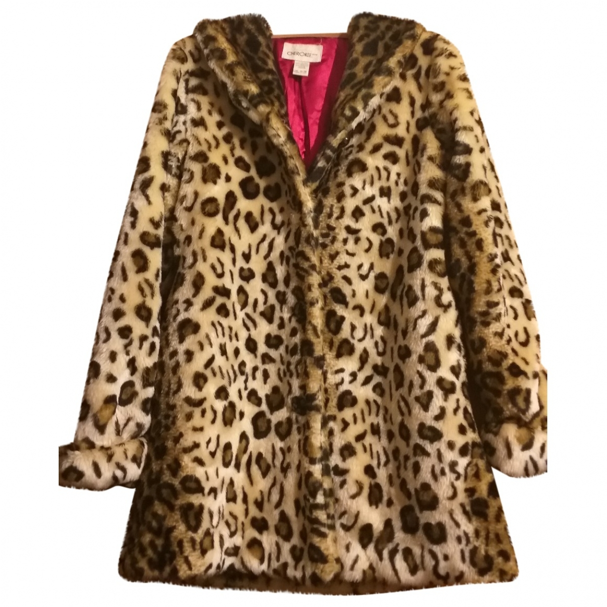 - Manteau Hippie Chic pour femme en fourrure synthetique - beige