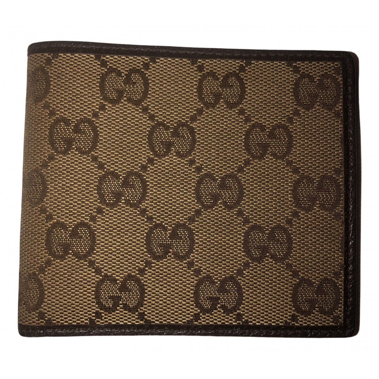 Gucci N Brown Cloth Small bag, wallet & cases for Men N
