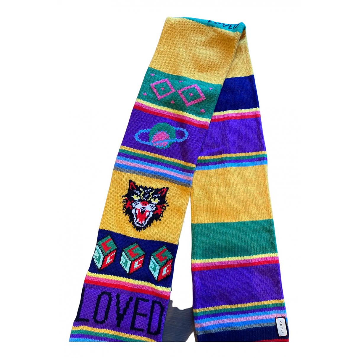 Gucci - Foulard   pour femme en laine - multicolore