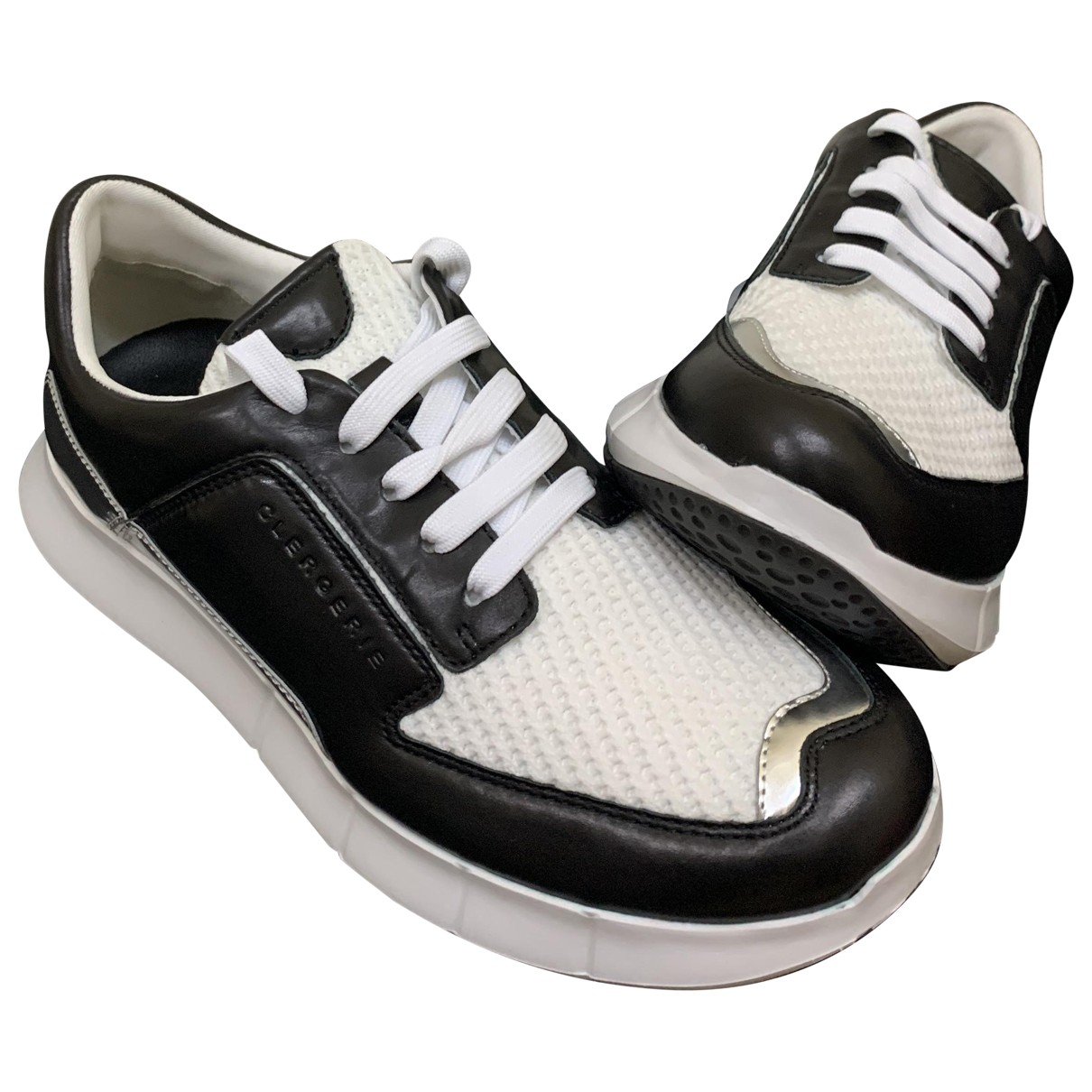 Robert Clergerie \N Black Leather Trainers for Women 39 EU