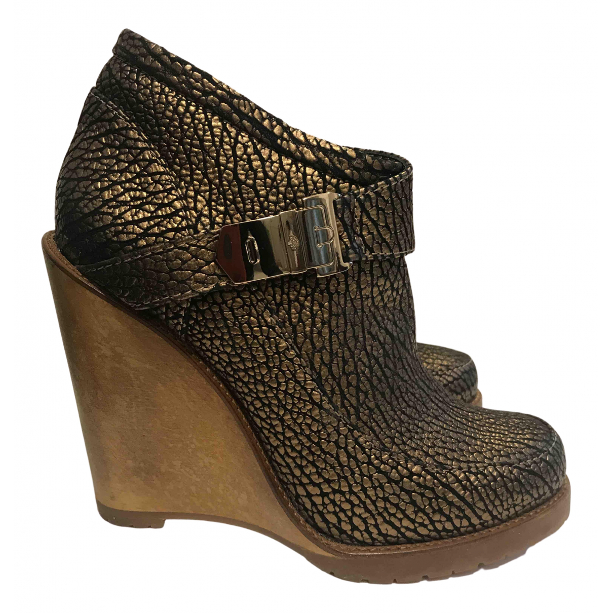 Mulberry N Metallic Leather Ankle boots for Women 38 EU