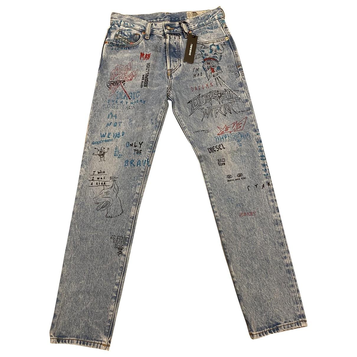Diesel \N Blue Cotton Jeans for Men 27 US