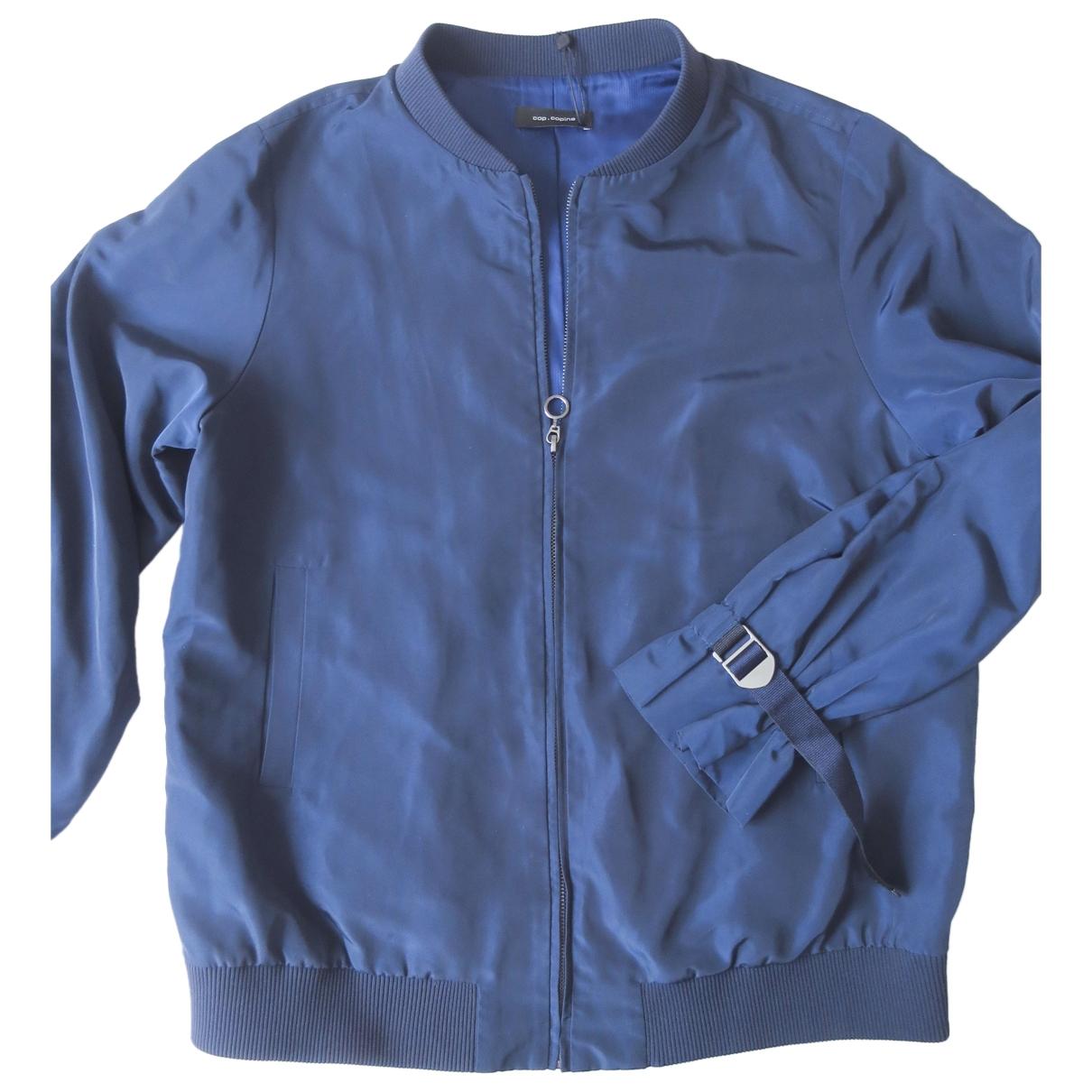 Cop Copine \N Lederjacke in  Blau Polyester