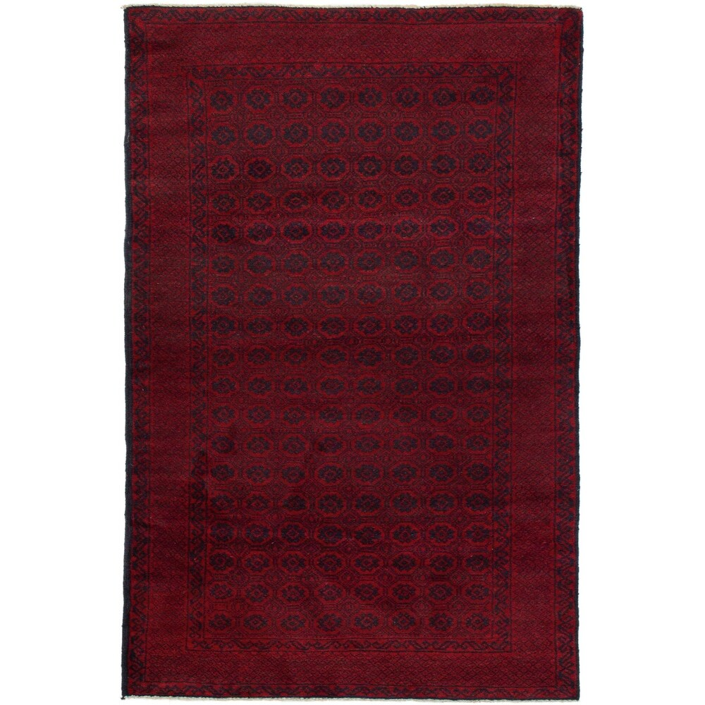 ECARPETGALLERY Hand-knotted Teimani Red Wool Rug - 3'5 x 6'3 (Red - 3'5 x 6'3)