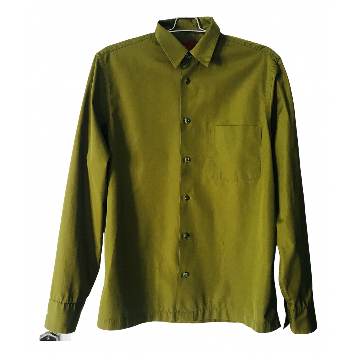 Kenzo \N Green Cotton Shirts for Men 40 EU (tour de cou / collar)