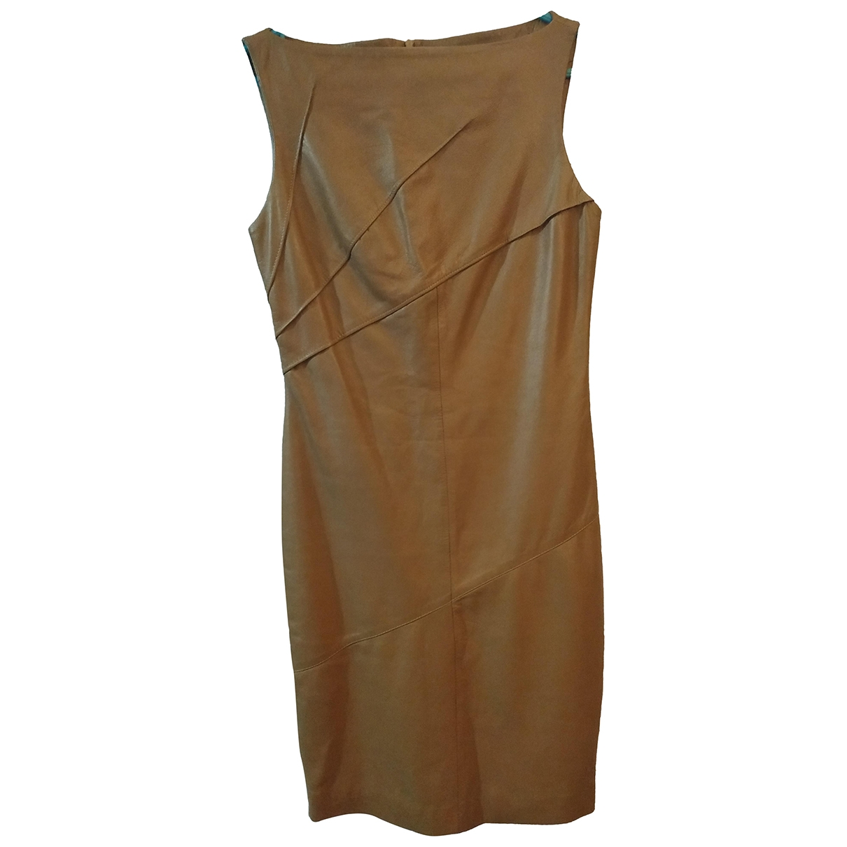 Versace \N Beige Leather dress for Women 42 IT