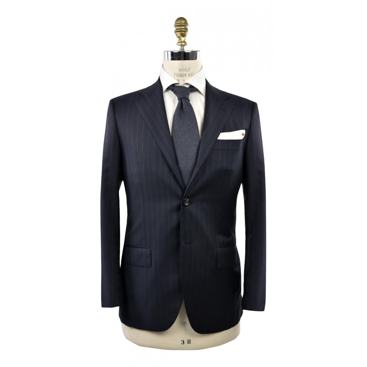 Kiton - Costumes   pour homme en laine - bleu